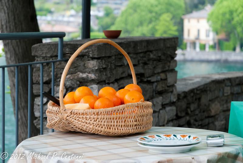 Fresh oranges for dessert over ice cream!