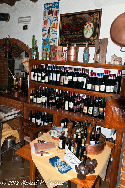 The wine selection at Il Caminetto