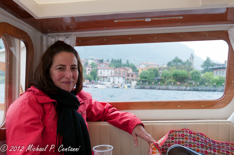 Taking a tour of the lake on our private taxi boat.