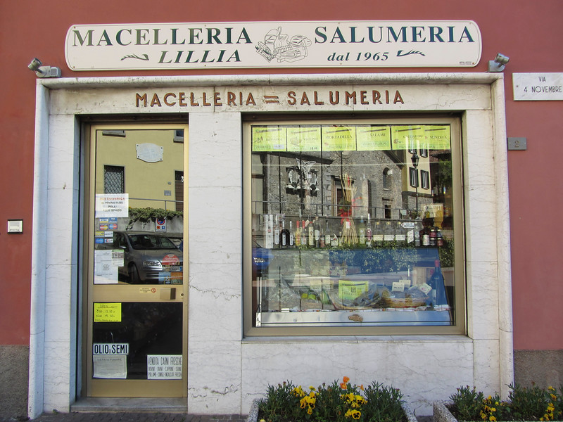 the butcher in Varenna