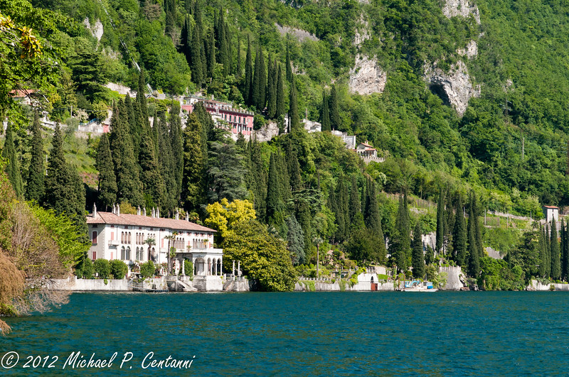 One of the spectacular villas along Lake Como