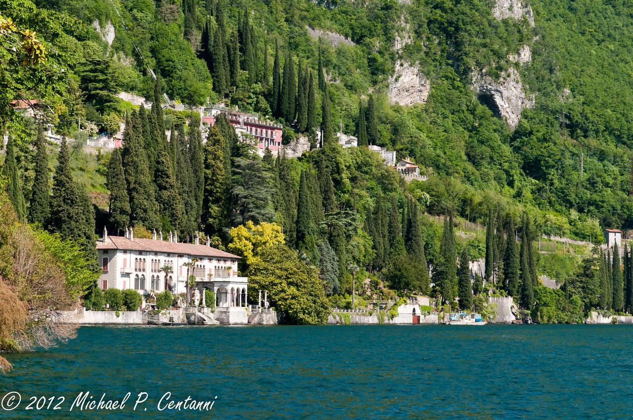 One of the spectacular villas along Lake Como