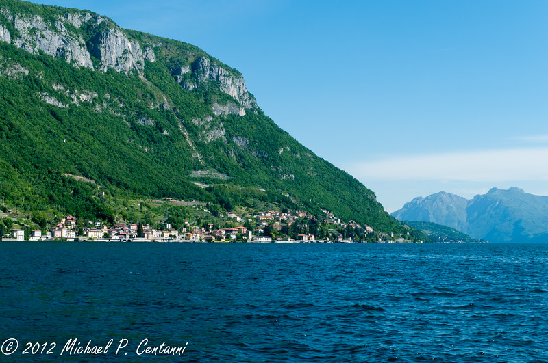 The town of Menaggio, across the lake from Varenna