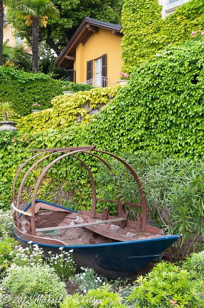 A traditional fishing boat of Lake Como