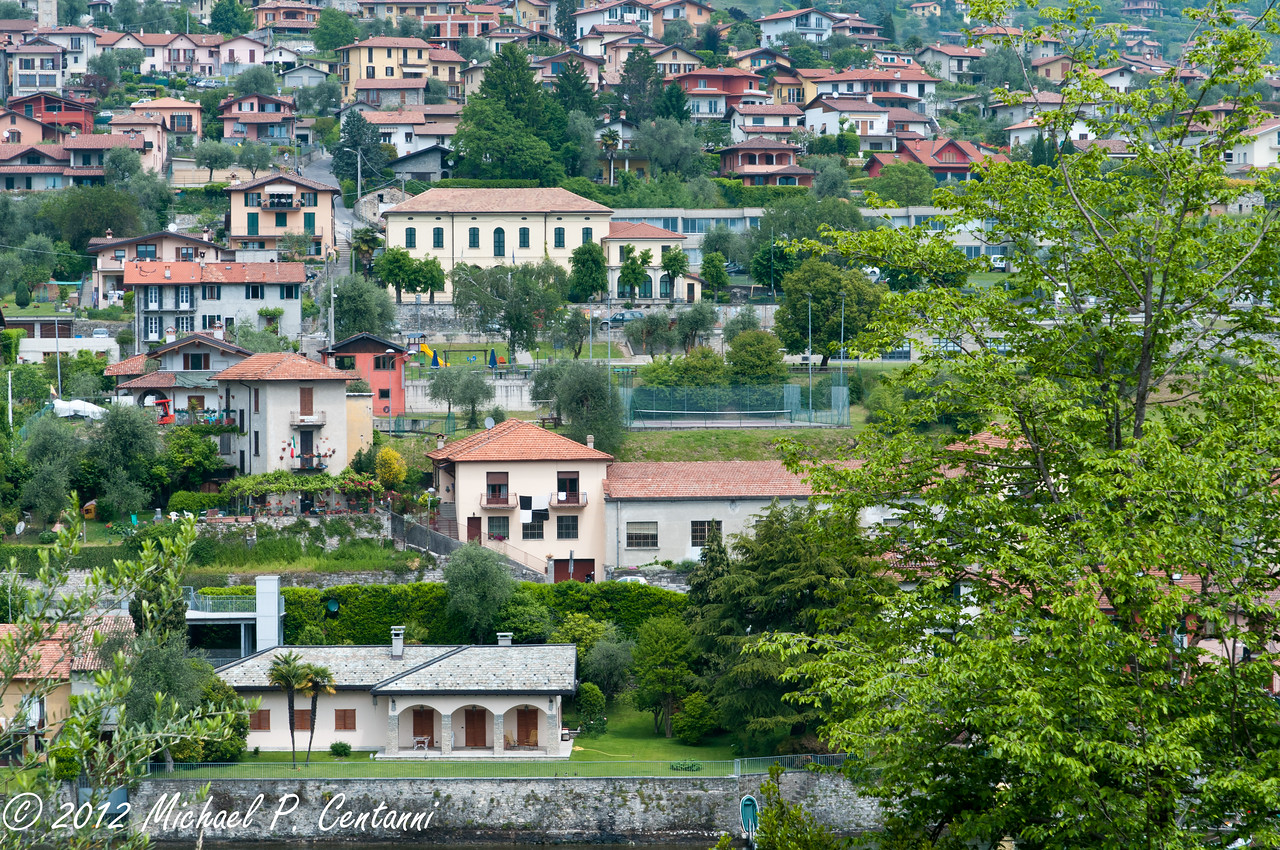 Looking at Sala Comacina - on the shore of Lake Como