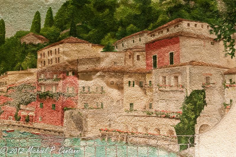 Inside Albergo del Sole in Varenna.