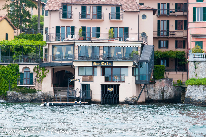 Hotel Du Lac, from the water