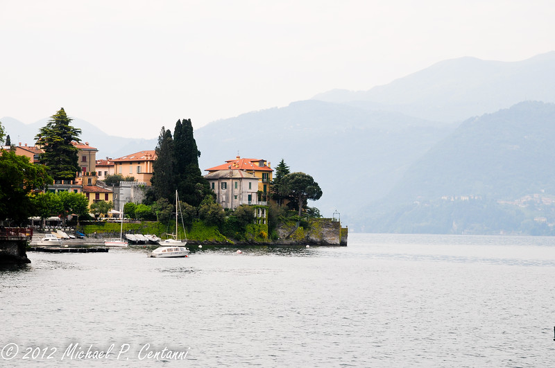 Looking south towards the center of Varenna from the ferry dock.