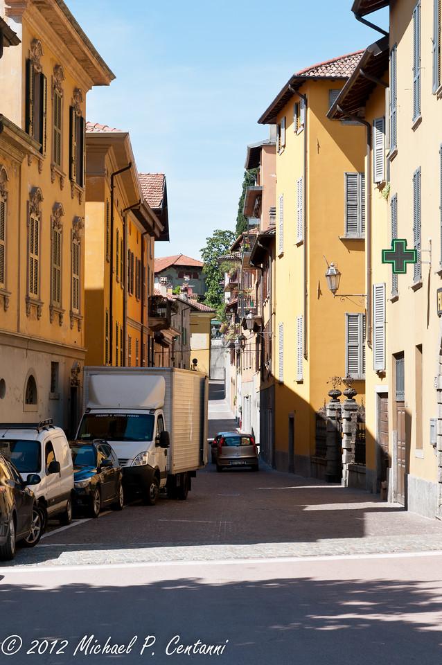 Via Corrado - the main drag through Varenna.