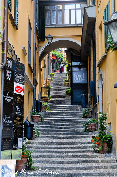 Hiking up into the town of Bellagio