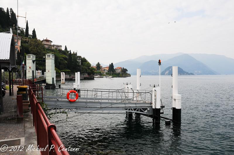 The ferry dock in Varenna