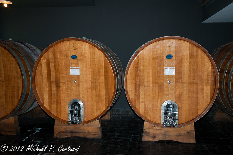 Wine barrel at Vietti
