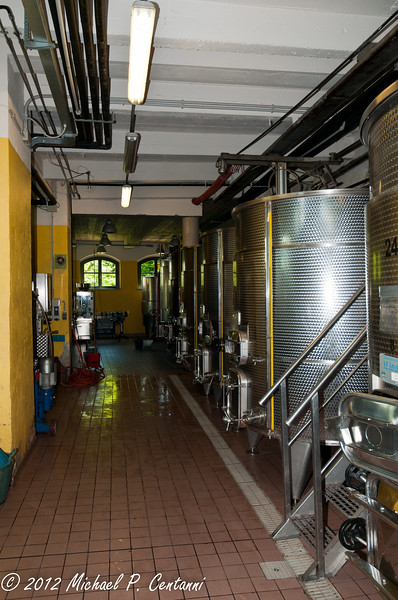 Stainless steel tanks at Vietti