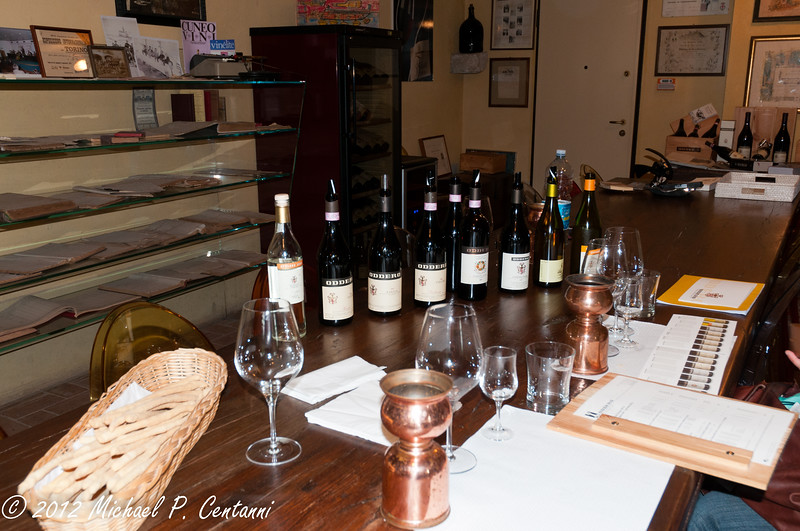 The tasting room at Oddero