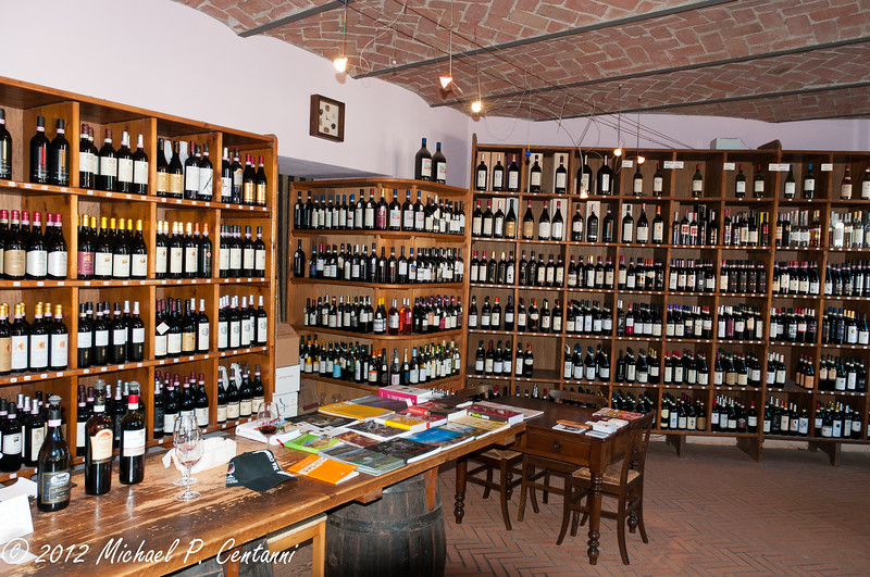 inside the Cantine Comunale in La Morra