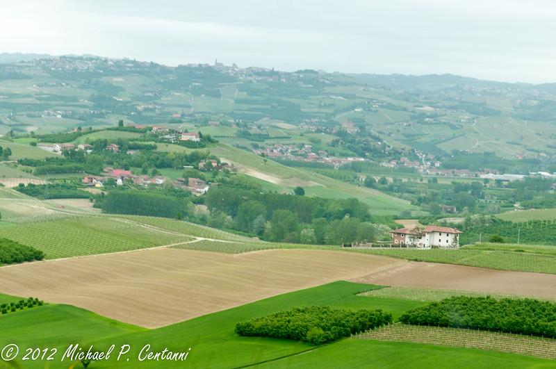 the countryside around Verduno