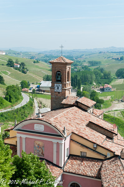 looking down at St Donato from Castello Falletti, Barolo