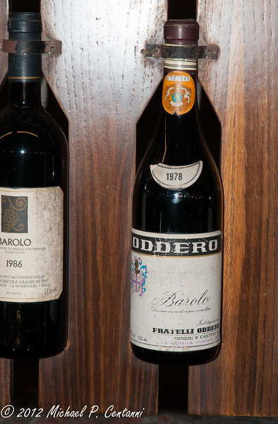 1978 Oddero Barolo at the Enoteca Regionale in Barolo