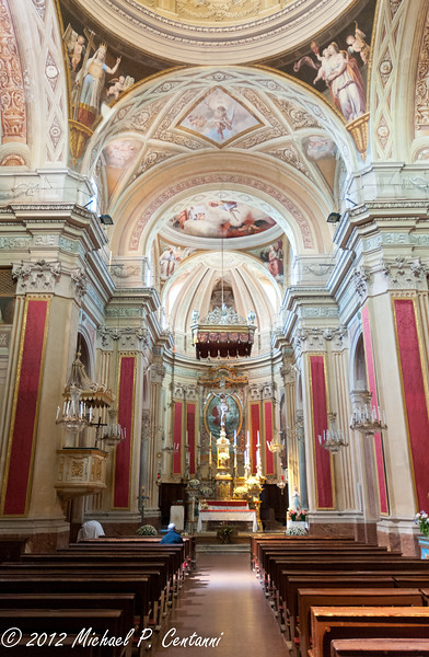 Inside the church - Novello