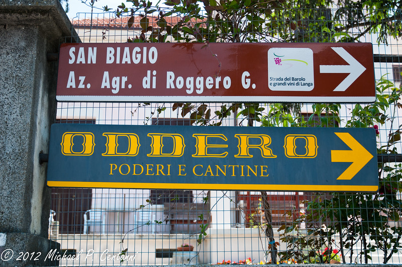 the road to Oddero Cantine