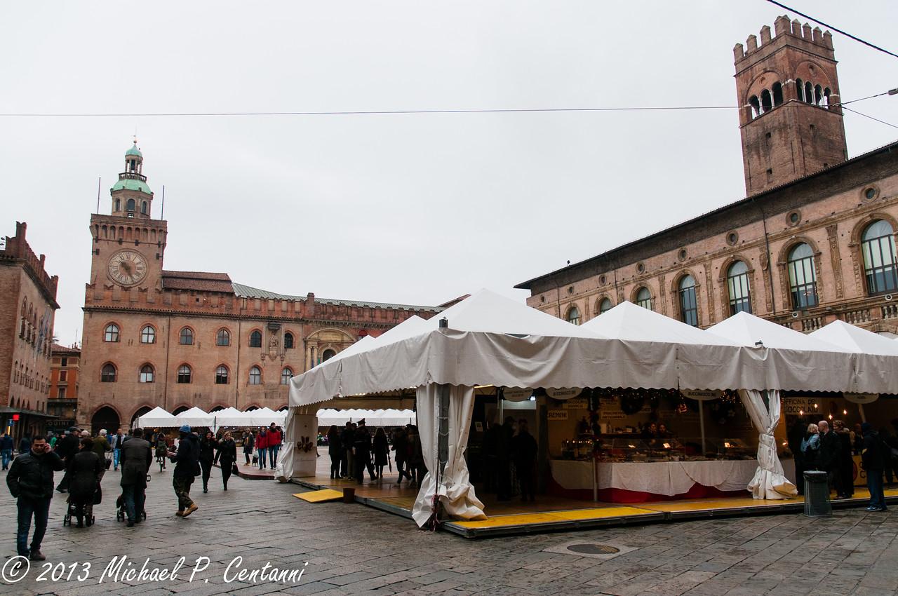 Chocolate festival in the Piazza Maggiore