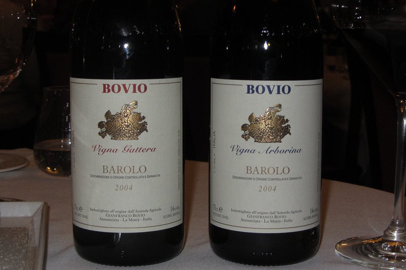 The two Barolos of the evening.  Gattera was a more feminine Barolo while the Arboria was more powerful.
