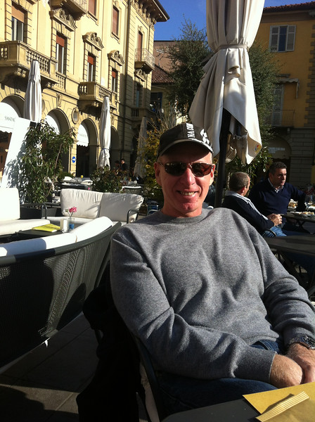 Hanging out in Piazza Savona in Alba