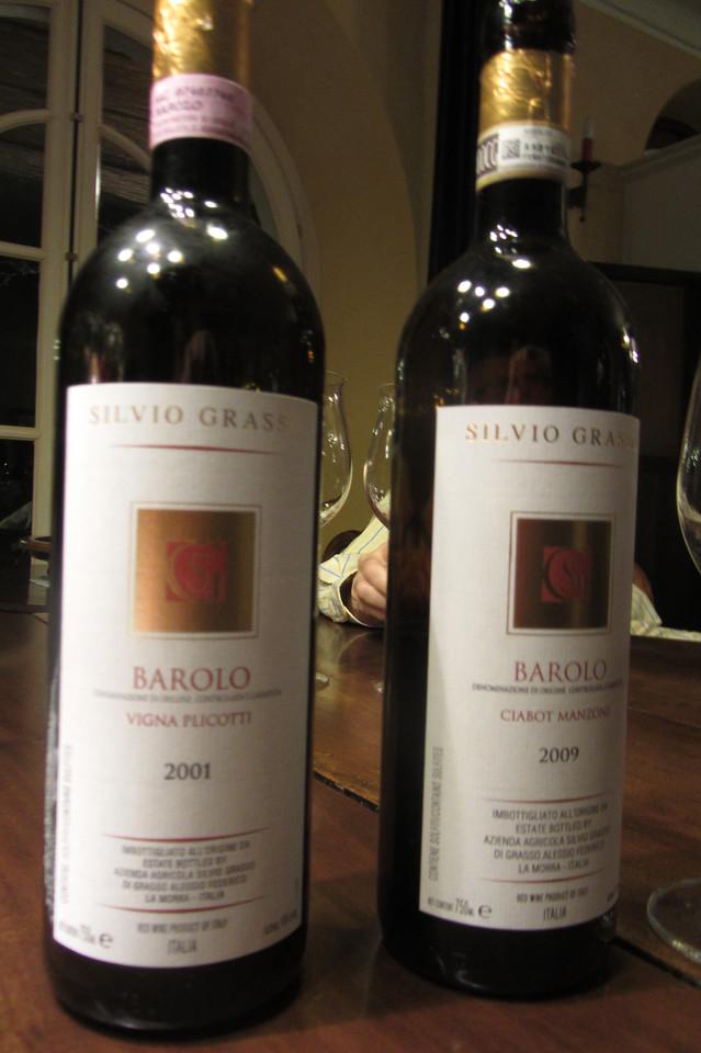 Silvio Grasso 2009 Ciabot Manzone - drinking young!<br /> <br /> 2001 Vigna Plicotti - outstanding!!!