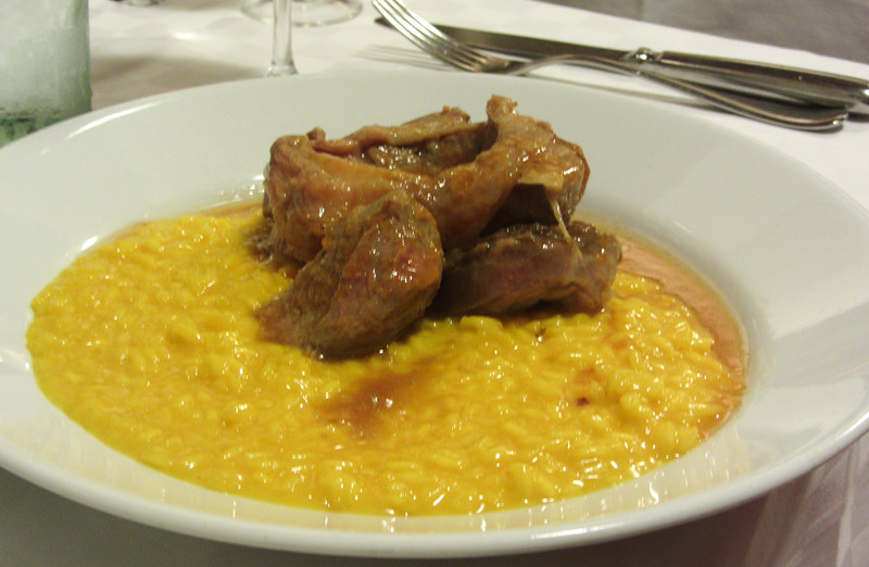 Osso Bucco with Risotto Milanese!
