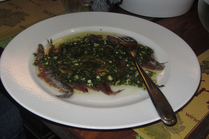 Anchovies with Salsa Verde