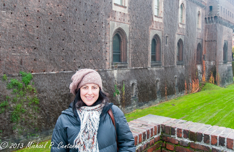 Outside the Castello Sforzesco