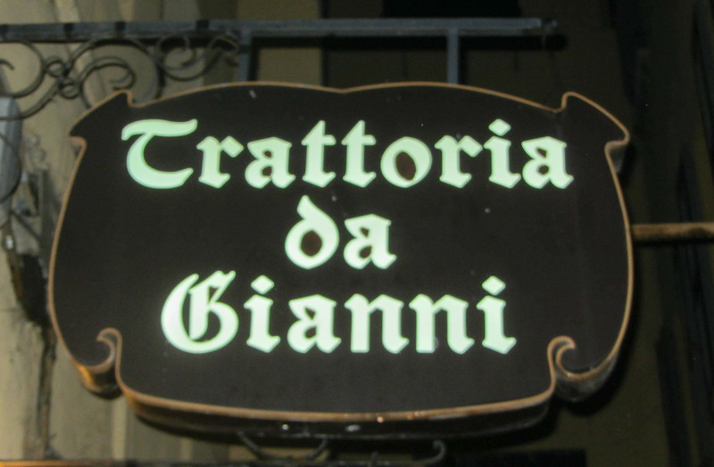 Great dinner at Trattoria da Gianni in Bologna