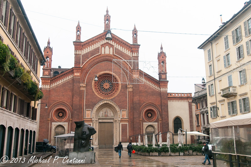 Santa Maria delle Grazie - Unesco World Heritage Site and home of Da Vinci's Last Supper.