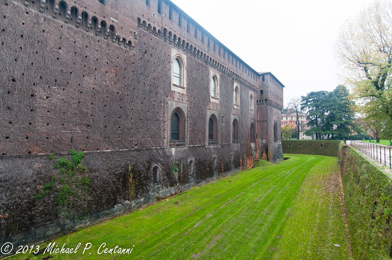 The walls of Castello Sforzesco