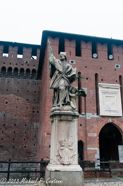 Inside the Castello Sforzesco