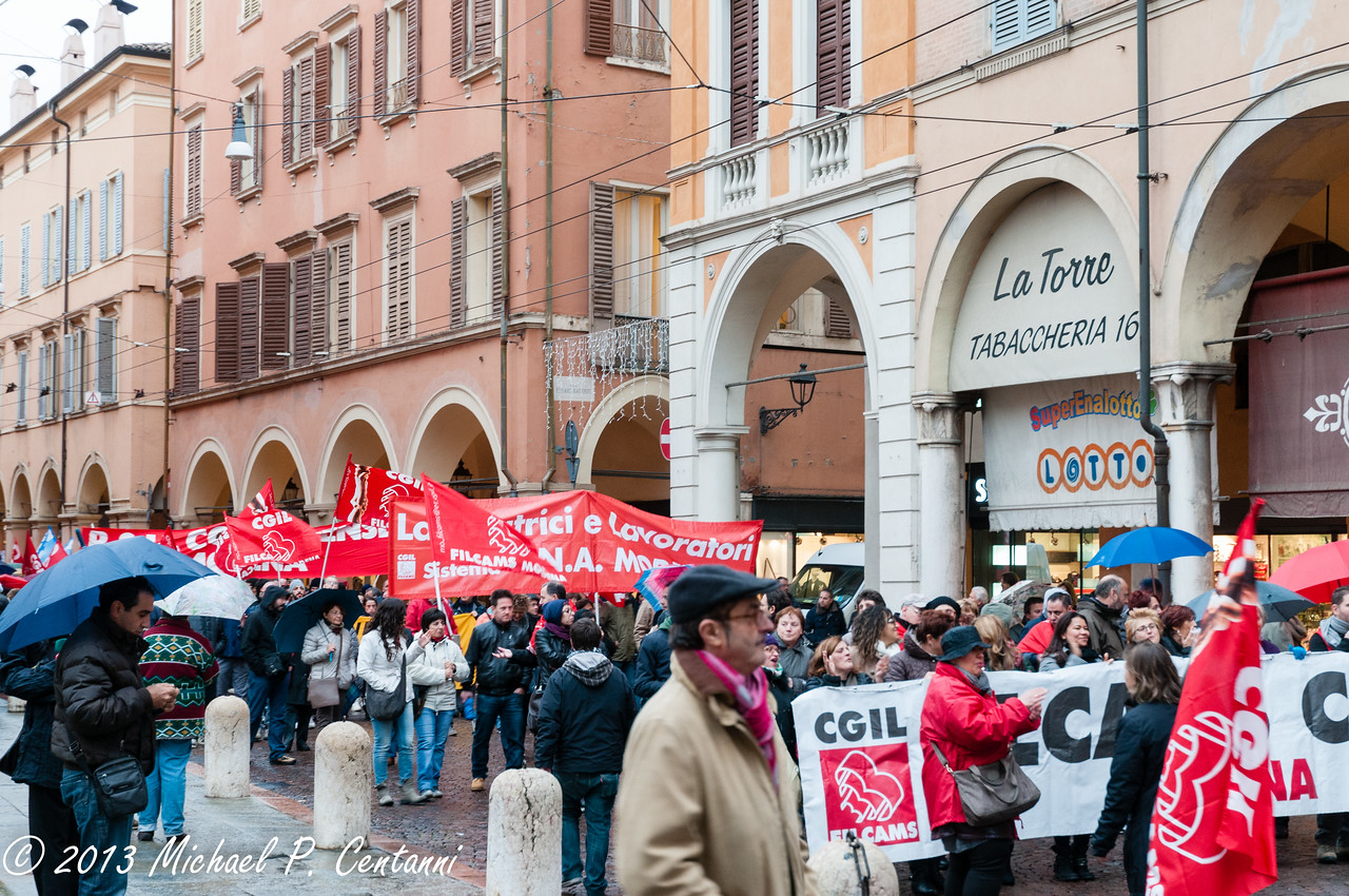 Demonstration on the streets of Modena