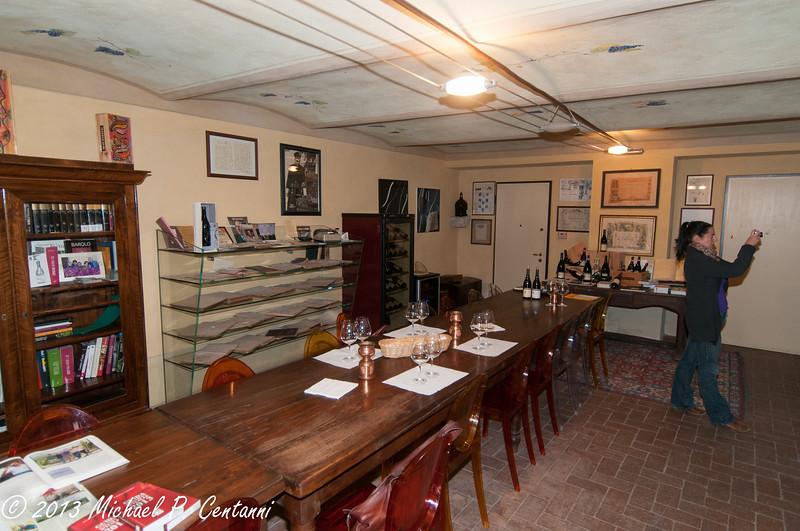 Oddero tasting room