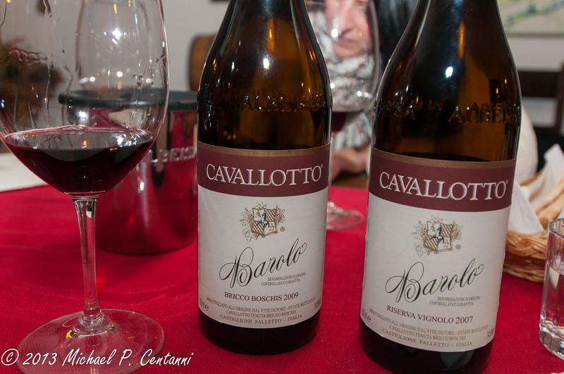 In the tasting room at Cavalotto
