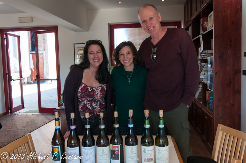 Clare & Michael with Annie Savino - a Napa girl in Piemonte!