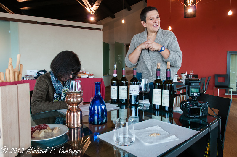 The tasting room at Conterno Fantino