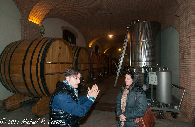 The cellars at Paolo Scavino