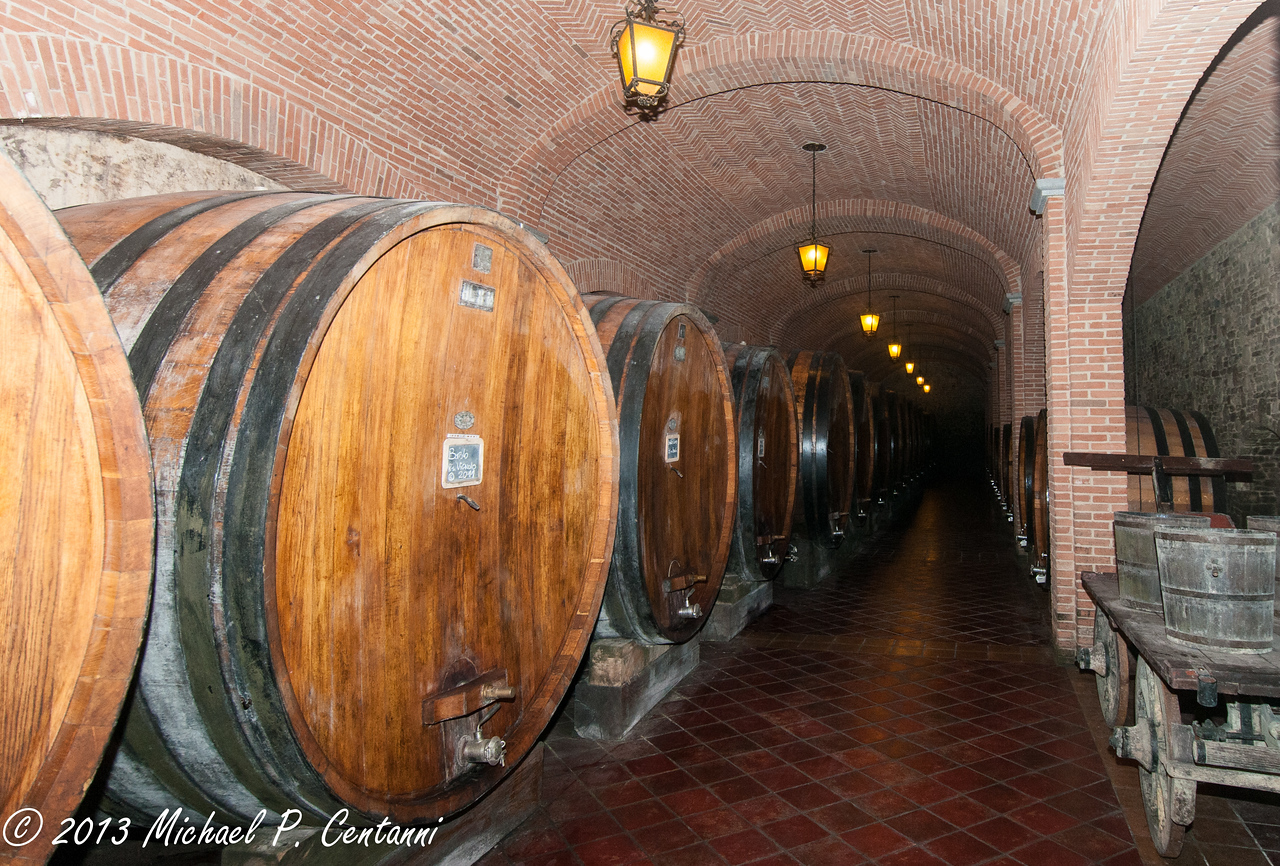 The cellars at Cavollotto