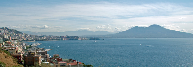 Naples and Vesuvius from the west, 7 September 2007