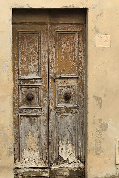 Villa Front Door, Florence, Italy