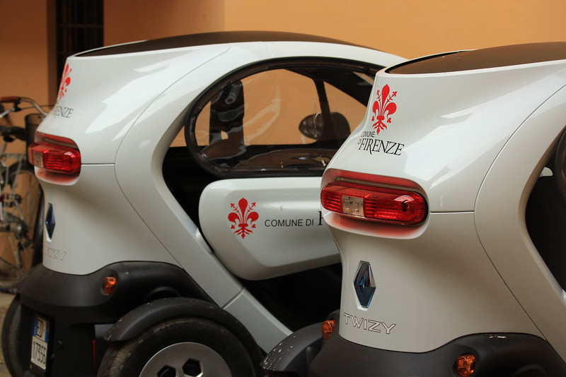 Renault Twizy Single Person Vehicles, Florence Municipal Government
