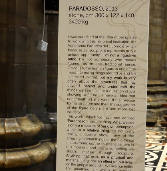 Milan cathedral, 9 June 2015 6.  About Sir Tony Cragg's Paradosso sculpture.