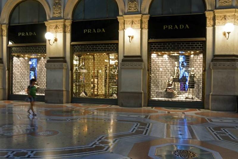 Victor Emanuel II arcade, Milan, 9 June 2015 5: Prada.