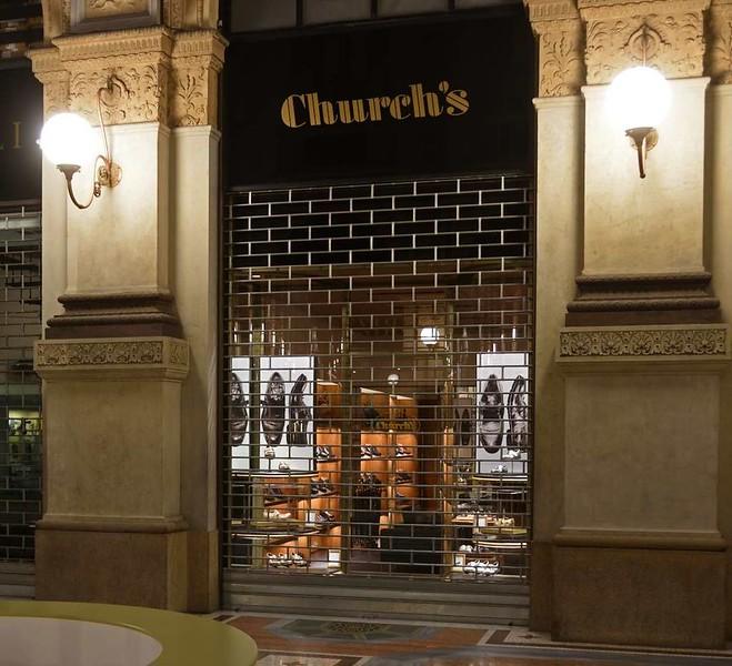 Victor Emanuel II arcade, Milan, 9 June 2015 7: Church's Shoes.