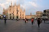 Milan cathedral, 9 June 2015 2.  The huge screen on the side of the cathedral advertises Samsung, who have provided video surveillance around the cathedral, an area notorious for pickpockets.