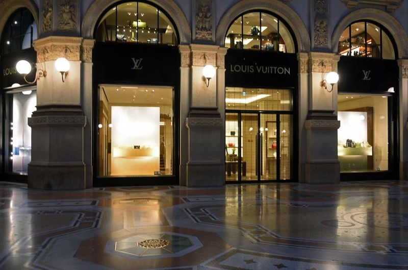 Victor Emanuel II arcade, Milan, 9 June 2015 4: Louis Vuitton.